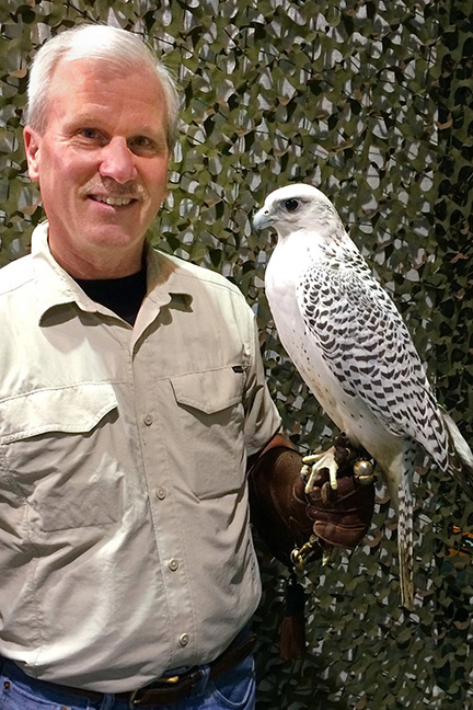 Mike with Gyr Falcon